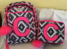 """Nwt Justice Geo Tie Dye Initial """"C"""" Backpack & Lunch Tote"""