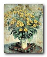 Claude Monet Sunflowers Floral Wall Decor Art Print Poster (16x20)