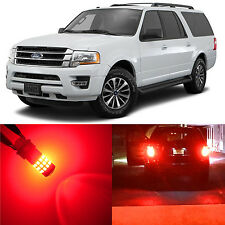 Alla Lighting Brake Turn Signal Light 3157K Red 12V LED Bulb for Ford Expedition