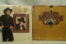 lot lp records Gene Autry 50th anniversary Bob Nolan country cowboy albums