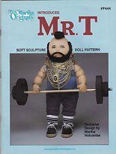 1984 Martha Original'S Mr. T Doll Making Kit Pattern Book Soft Sculpture Nos