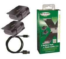 Kit 2 Batterie ricaricabili controller joypad  XBOX ONE + cavo alimentazione