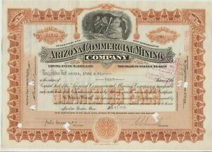 Arizona Commercial Mining Company Stock Certificate