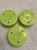 Lot of 3x Smart Hockey 6 oz. Stick Handling & Shooting / Passing Off-Ice Puck