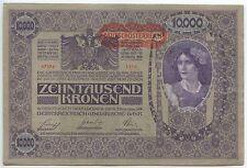 £ GB417-BANCONOTE AUSTRIA 10.000 KRONEN 1919 PICK #59 In perfatta condizione Deutsch-ITALIA