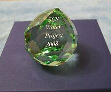 Swarovski Crystal Scs Water Project 2008 Green Paperweight 967003 w/ box & Cert