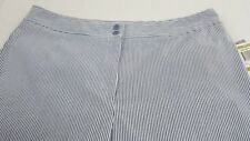 New With Tags Charter Club Women's Seer Sucker Capri's Blue/White Size 14 Org$45