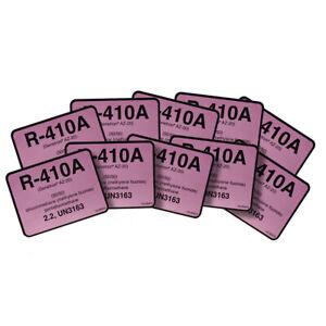 R-410A / R410A Genetron Puron AZ20 Refrigerant Label # 04410 , Pack of (10)