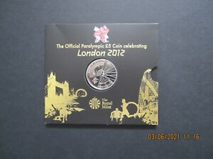 Great Britain, Royal Mint £5 coin London 2012 Olympic Games, Paralympic