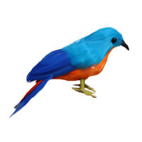 Small Artificial Blue Bird Realistic Taxidermy Home Garden Decoration Toy