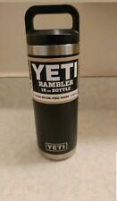 Yeti Rambler 18 oz Stainless Spill Proof *Black* Bottle*New & Authentic Yeti*