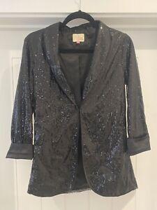 Womens Glitter Sequin Blazer.  Thin Jacket Ladies Party Outwear