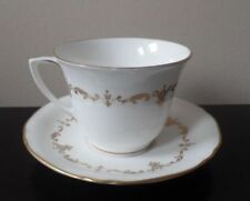 Coffee Cup & Saucer White Royal Worcester Porcelain & China