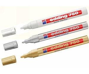 Lackmalstift Edding 750 Lackmarker Lackstift 2-4 mm 12 Farben   Steine bemalen