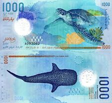 MALDIVES 1000 Rufiyaa Banknote World Money Currency BILL Asia Note 2015 Shark