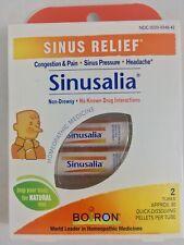 Boiron SINUSALIA Sinus Pain Relief SinusCalm 2 Tube Of 80 Non-Drowsy Homeopathic