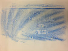 Bing Crosby Grave Rubbing / Hollywood Movie / Old Time Radio OTR / TV Star