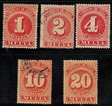 Chile 1898 Due Multas Cifra Grande (A-388)