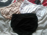 MARKS AND SPENCER HIGH LEG BRIEFS WITH MODEL BLACK WHITE & BEIGE PLUS SIZE 8-24