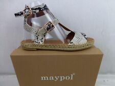 MAYPOL Espadrilles Sandale Leder Piton Optik Gr 39 Handmade Spain NEU