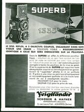 Publicité ancienne appareil photo Super B Voigtländer 1933 issue de magazine