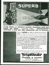 Publicité ancienne appareil photo Super B Voigtländer 1933
