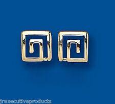 Greek Key Earrings Key Studs yellow Gold Greek Key Stud earrings