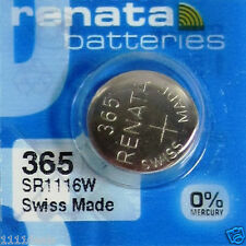 1 New Renata 365 Sr1116Sw Watch Battery