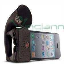 Amplificatore HORN STAND silicone NERO per iPhone 4 4S amplificazione naturale