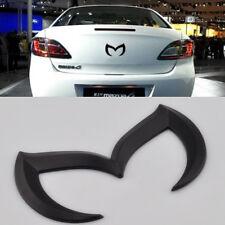 Sporty Metal Evil 'M' Rear Trunk Badge Decal Emblem Matte 3 5 6 For Mazda Black