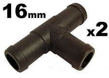 2 Hose Tube Pipe 3-way T-Piece Splitter Connector 16mm