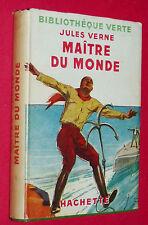 BIBLIOTHEQUE VERTE 1946 JULES VERNE MAÎTRE DU MONDE / HENRI FAIVRE