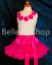 50% OFF SALE Girl Rosettes Sleeveless Pettitop Top T-shirt Girl Size 2T-7 PP004N