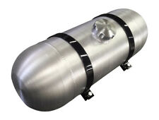 Round Spun Aluminum Gas Tank - 8x24 Center Fill 5 Gallon - Dune buggy - 3/8 NPT