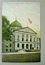 BRADFORD COUNTY COURTHOUSE , TOWANDA, PENNSYLVANIA Vintage Post card.