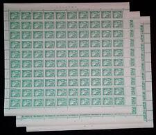DDR Aufbau, Komplettbogen postfrisch  , Nr. 2483 V, ungefaltet, FN 1-3,