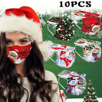 10PC Unisex Adult's Face Mask High Quality Mask Christmas Party Protection