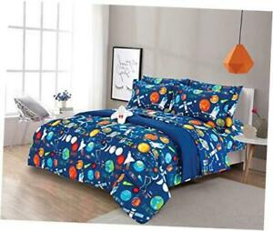 6 Piece Twin Size Kids Boys Teens Comforter Set Bed in Bag with Shams, Sheet set