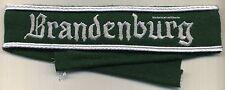 BRANDENBURG fascia da braccio su panno verde green cloth Brandenburg cuff title