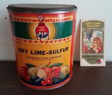 Original Lot Sherwin Williams Dry Lime Sulfur Store Display Items Brochure & Can