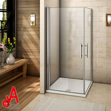 980x980mm Frameless Shower Screen Square Corner With Double Swing Pivot Doors