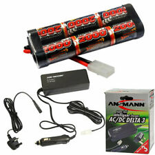 RC Car Battery & Fast Charger 2000mah 7.2v NiMH Battery Pack & 3A Quick Charger