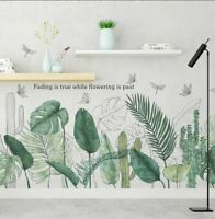 Wall stickers Tropical Plant green cactus Leaves Decal Art Removable Decor