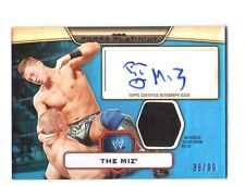 WWE The Miz 2010 Topps Platinum BLUE Authentic Autograph Relic Card SN 38 of 99
