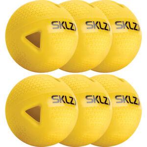 SKLZ Premium Impact Practice Baseballs 6-Pack - Yellow