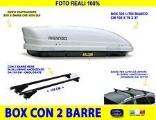 Box Portatutto per Audi A6 Allroad 2012>2014 tetto barre baule in 320 litri kit
