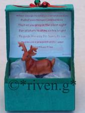 REINDEER CHRISTMAS CARD Blessing Box@HOLLY BELLS FESTIVE PRAYER CARD Verse Gift