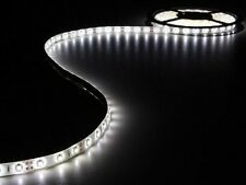 FLEXIBLE RUBAN GUIRLANDE 300 LED BLANC FROID AUTOCOLLANTE 12V 5m + ALIMENTATION
