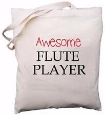 Reproductor de flauta impresionante-Bolsa de Hombro Algodón Natural-Regalo