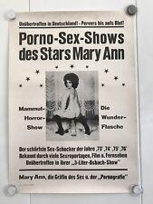 Erotik Original deutsches Plakat 70er Jahre Mary Ann